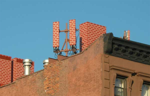 A camouflaged cell array in Brooklyn