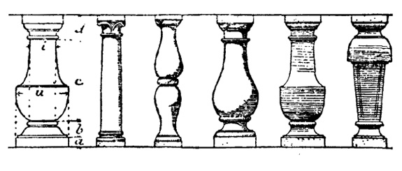 Typical balusters