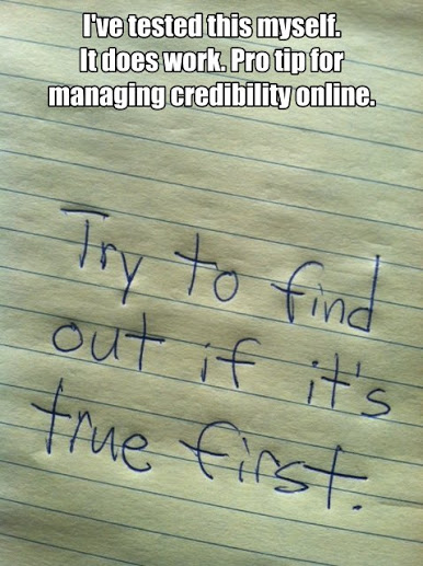 Managing credibility