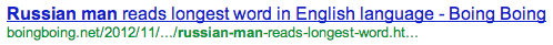 Russian Man reads longest word in English language