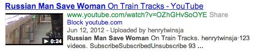 Russian Man saves woman on train tracks