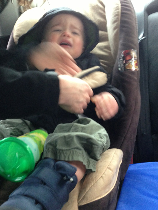 The car seat. Always the car seat.
