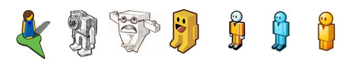 The evolution of Google's Pegman