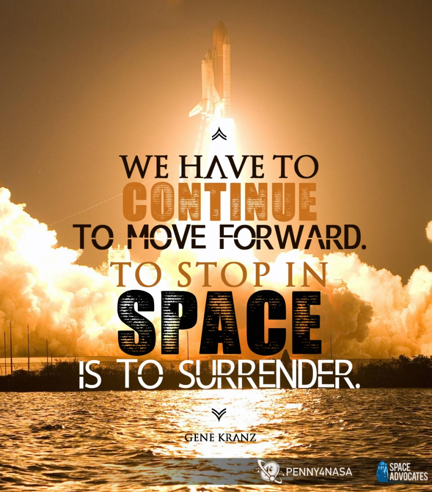 To stop in space is to surrender