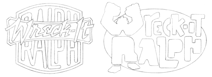 Wreck-It Ralph logo sketches