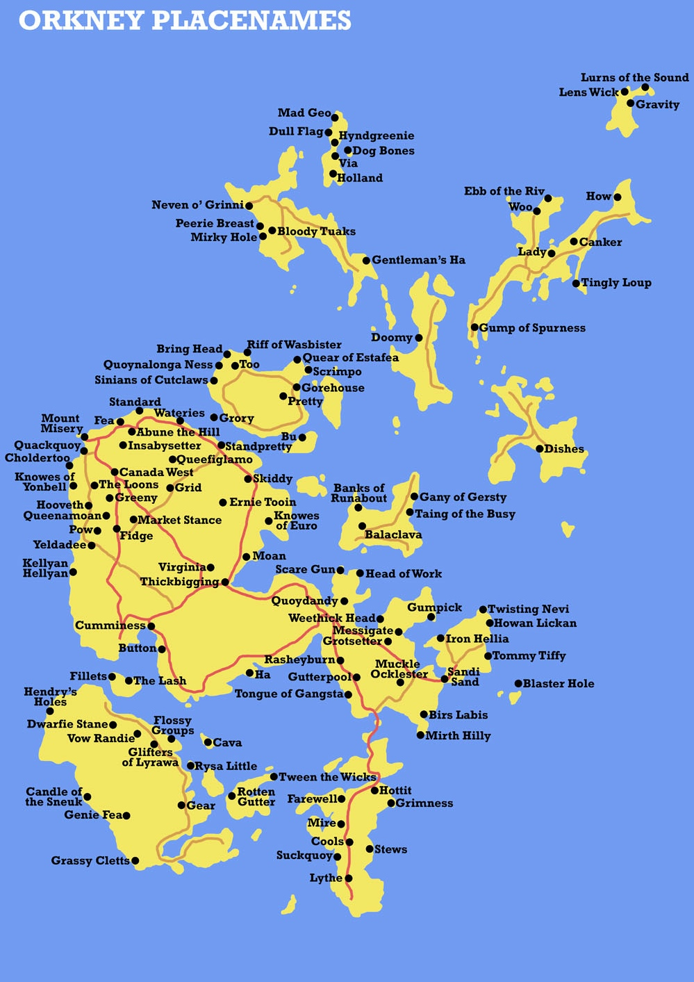 Orkney place names