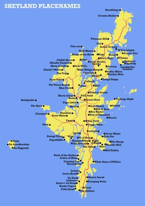 Shetland place names