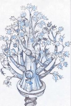 Winterfell Godswood tree sketch