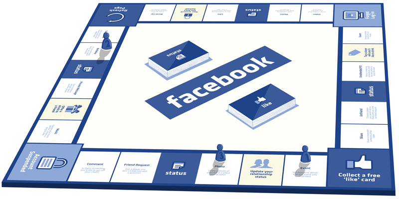 Facebook board game