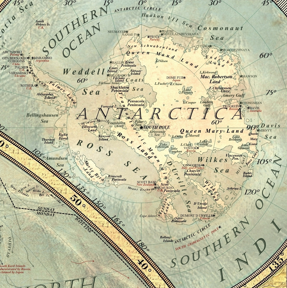 Climate change map: Antarctica