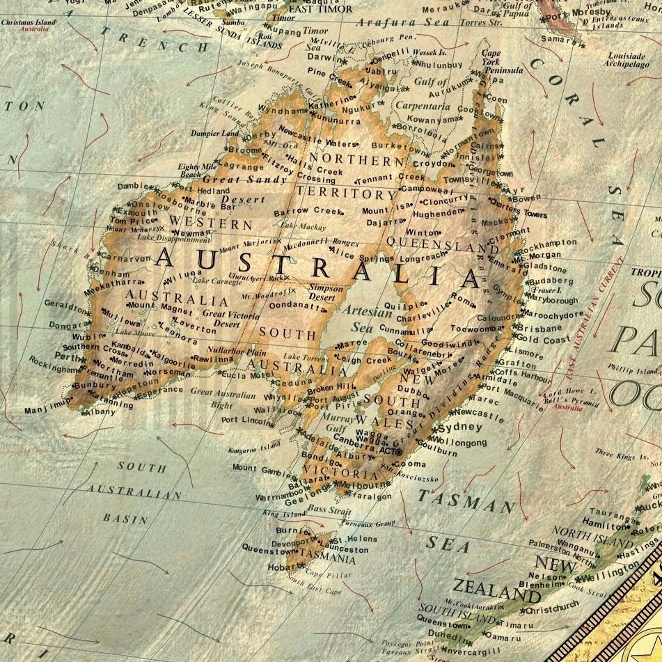 Climate change map: Australia