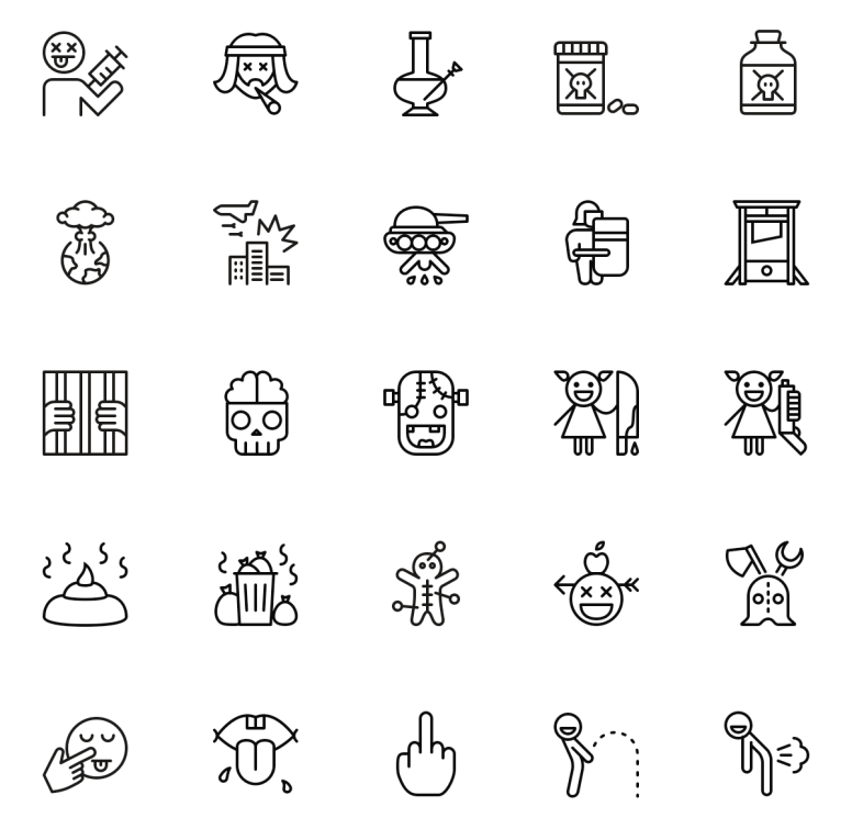 Nasty Icons by Vincent le Moign
