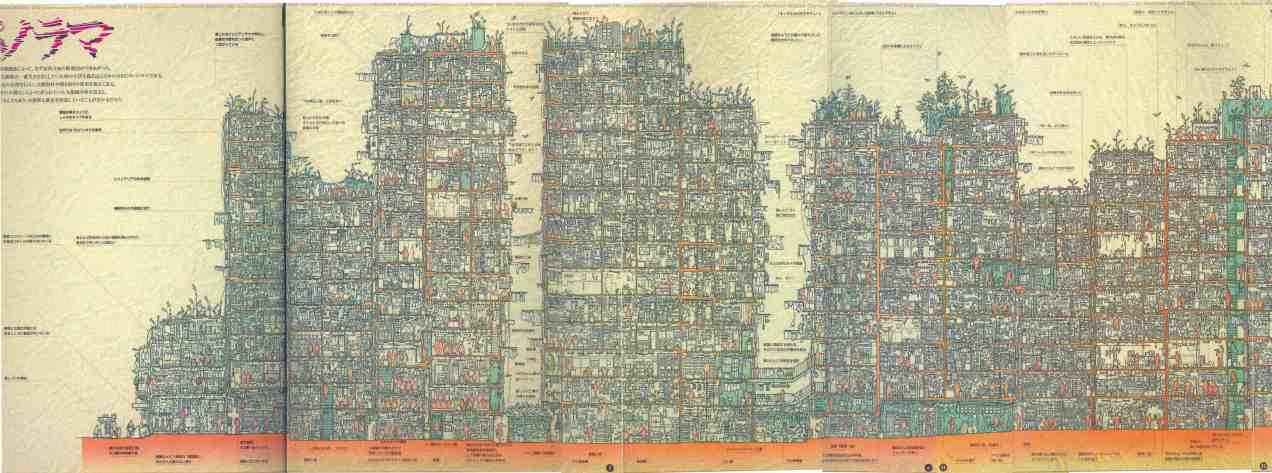 Kowloon city cross section
