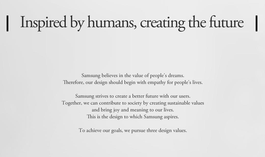 Samsung's design philosophy
