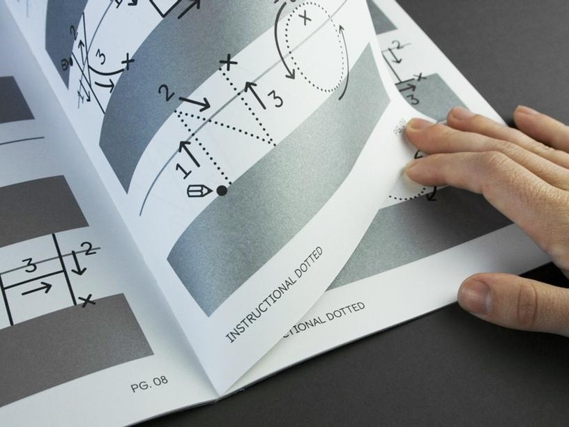 Castledown font - Instructional dotted