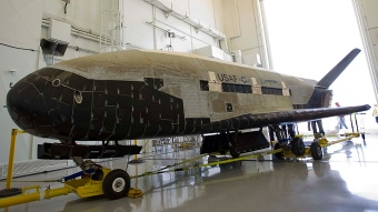 X-37B in the hangar