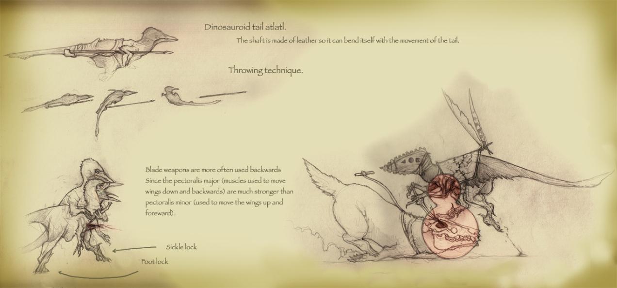 Dinosauroid martial arts