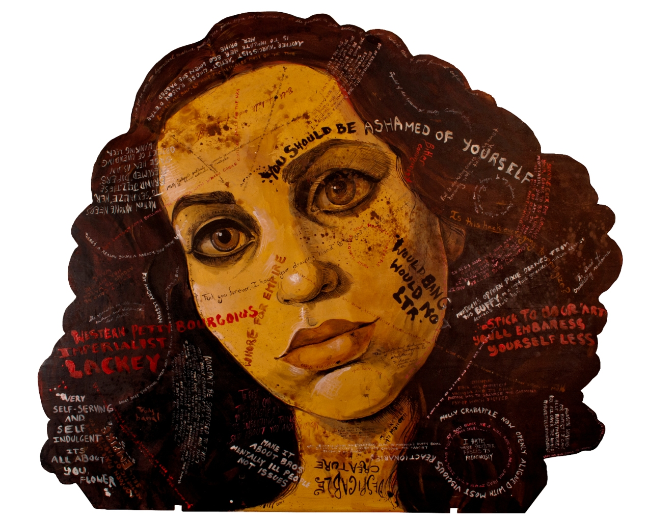 Molly Crabapple self portrait