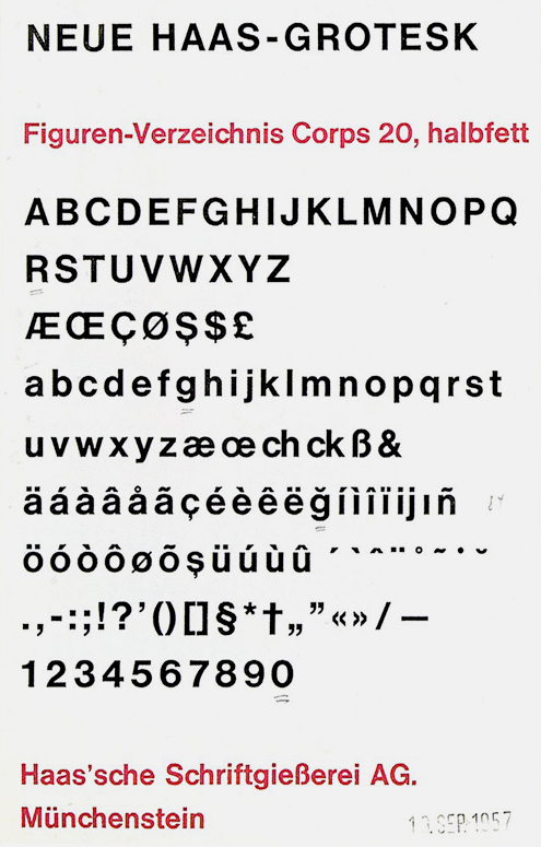 Neue Haas Grotesk proof