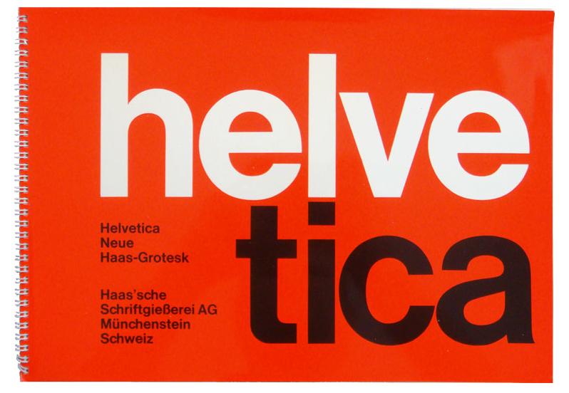 Helvetica / Neue Haas Grotesk specimen brochure