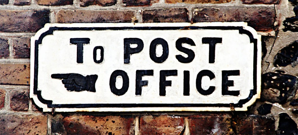 To POST OFFICE