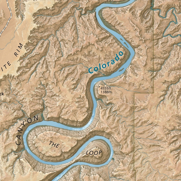The Heart of Canyonlands National Park, detail