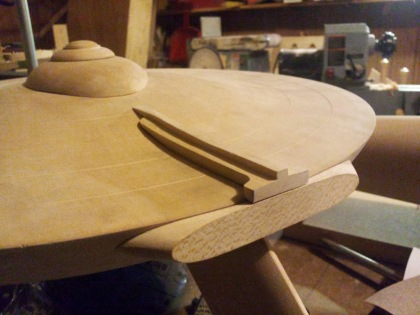 Wooden Enterprise model under construction