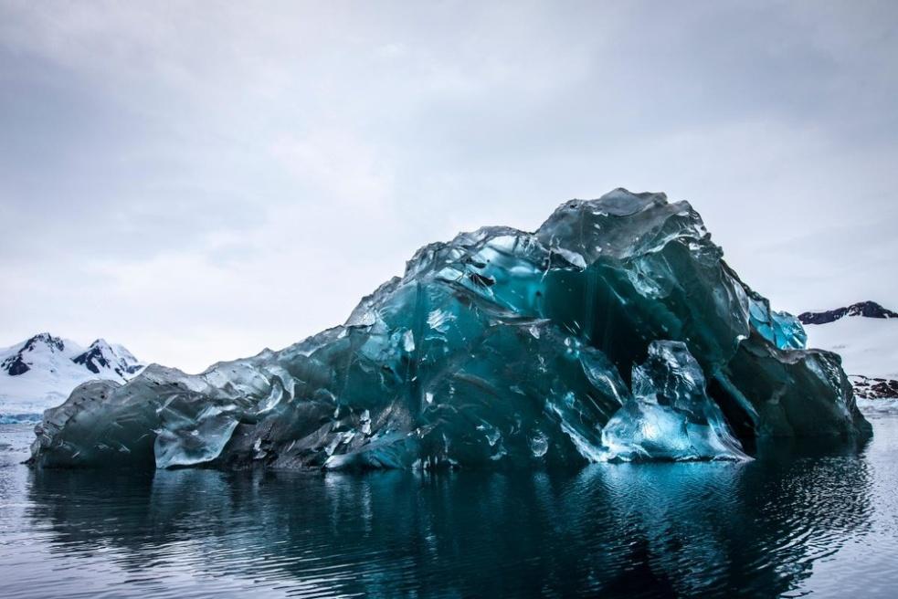 Flipped iceberg in Antarctica -- Alex Cornell