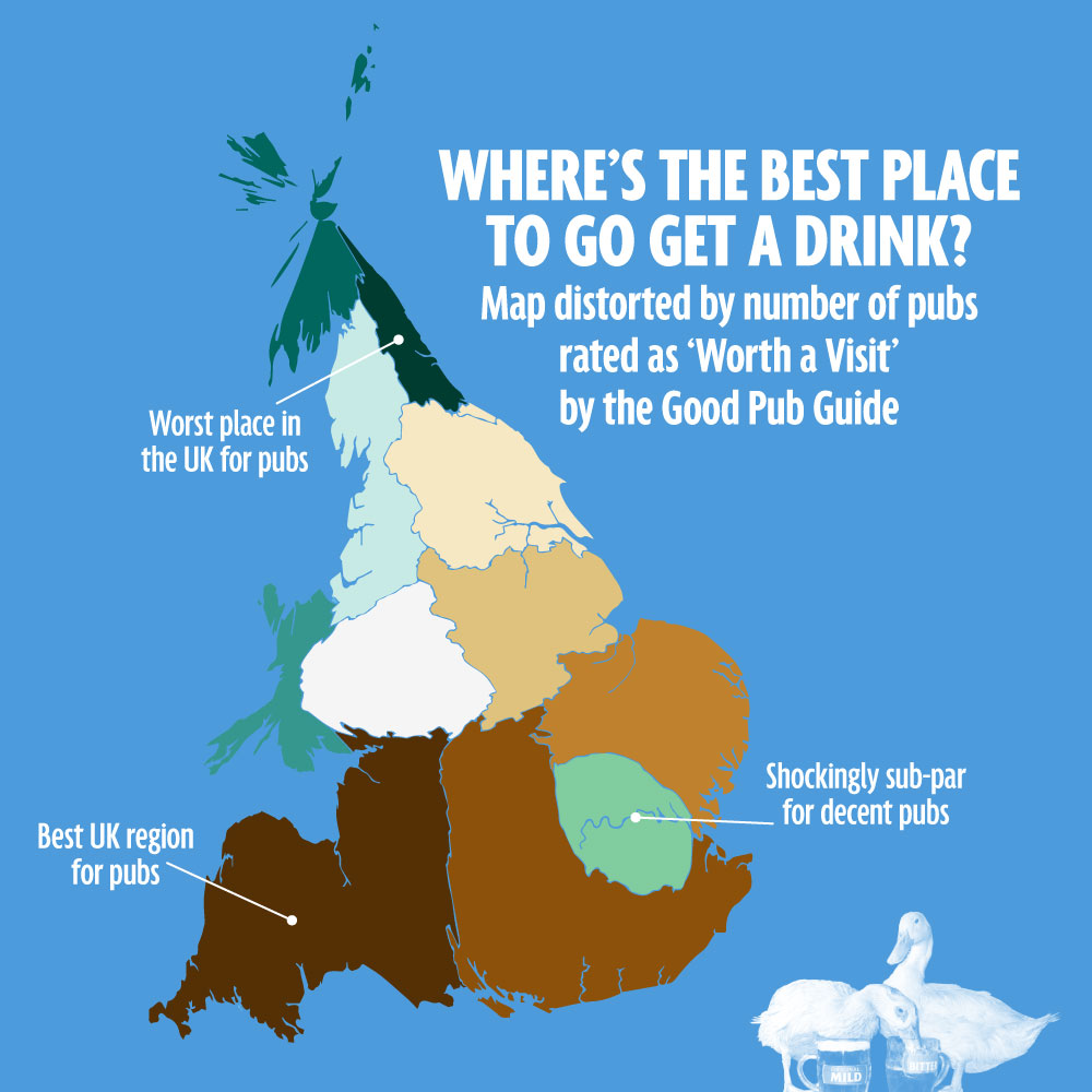 Where are all the good pubs in the UK?