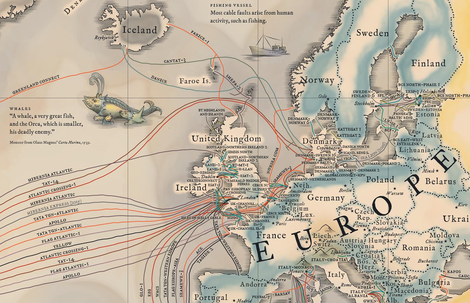 Ye olde submarine cable map | Sockrotation