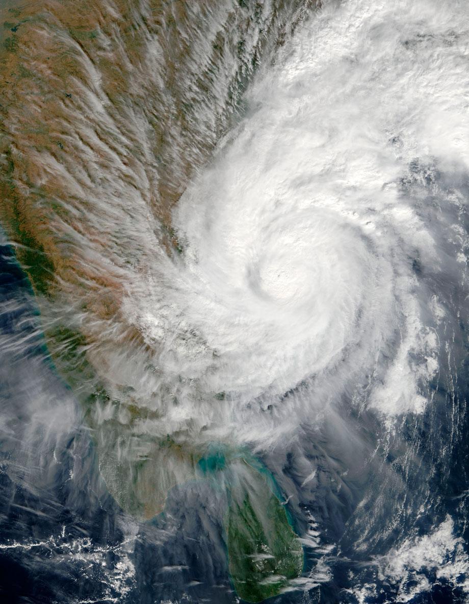 Typhoon over Bar of Bengal