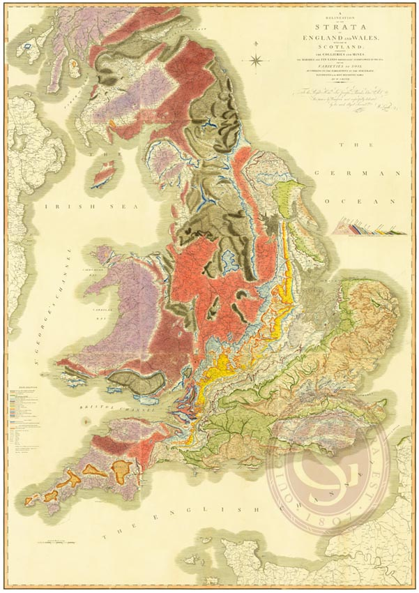 William Smith's Geological Map of England and Wales