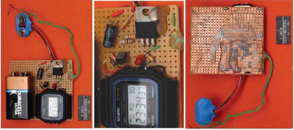 Al Qaida watch timer on perf board