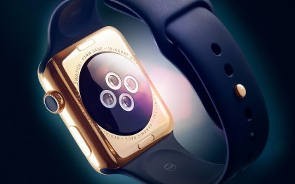 Gold and Black Apple Watch