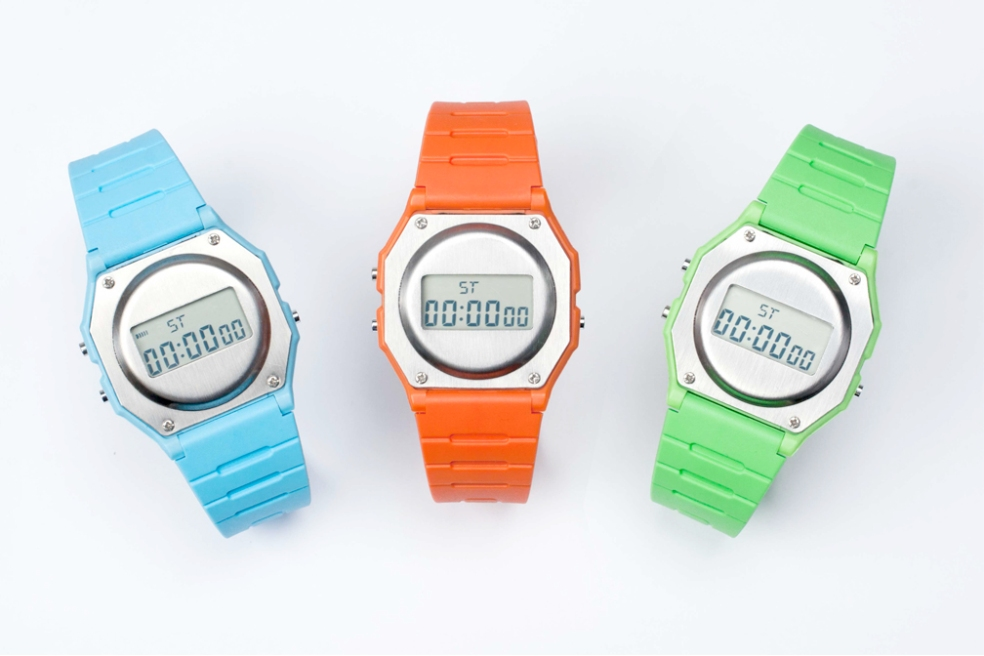 Casio F-91W Rework - Steel colour range
