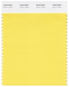 PANTONE Minion Yellow Swatch Card