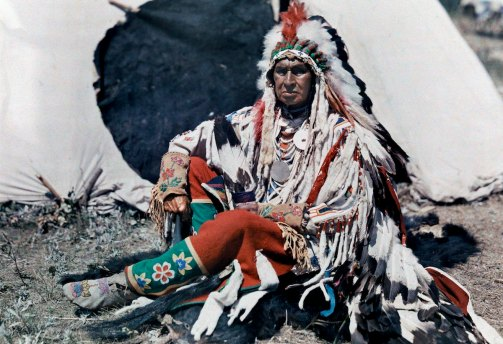 A chief on the Crow Indian Reservation