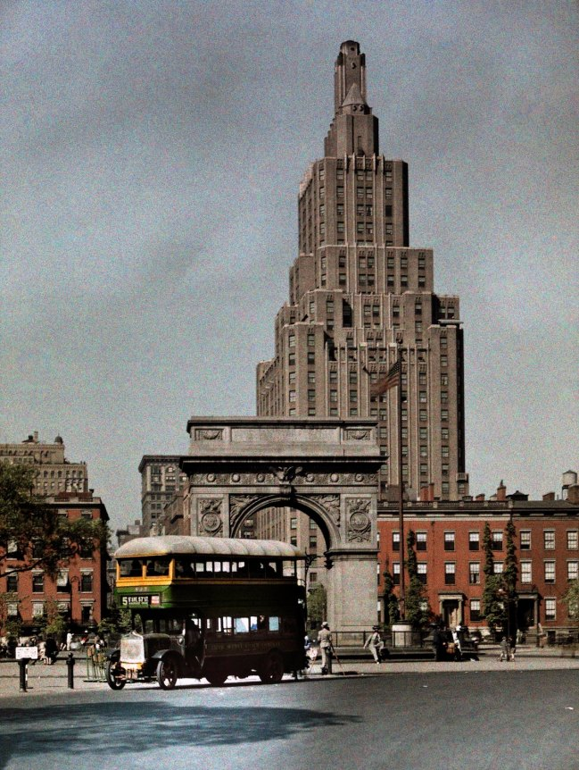 A view of Washington Square at Fifth Avenue