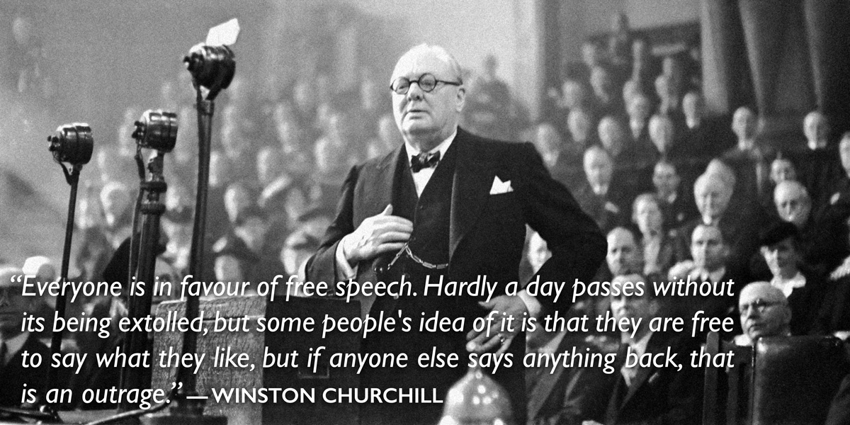 Winston Churchill on free speech