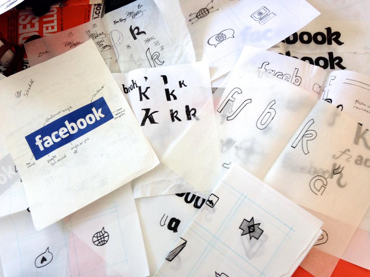 Facebook visual identity sketches
