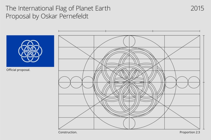 International Flag of Planet Earth construction