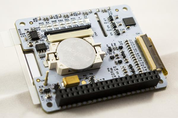 PaPiRus underside with optional pogo pin installed