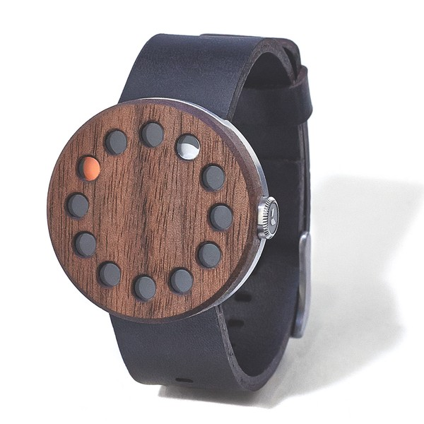 Grovemade walnut watch round