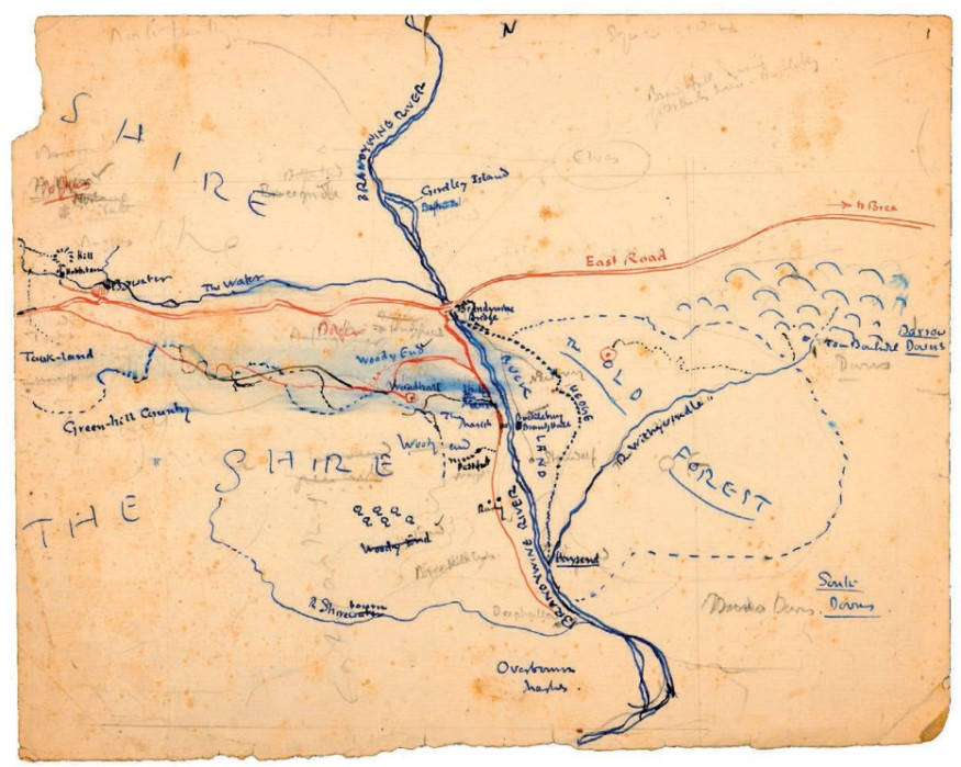Earliest map of the Shire