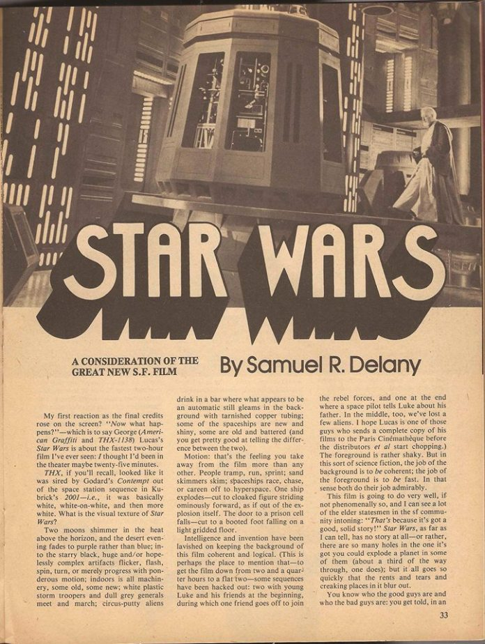 Samuel R. Delany's Star Wars review, page 1