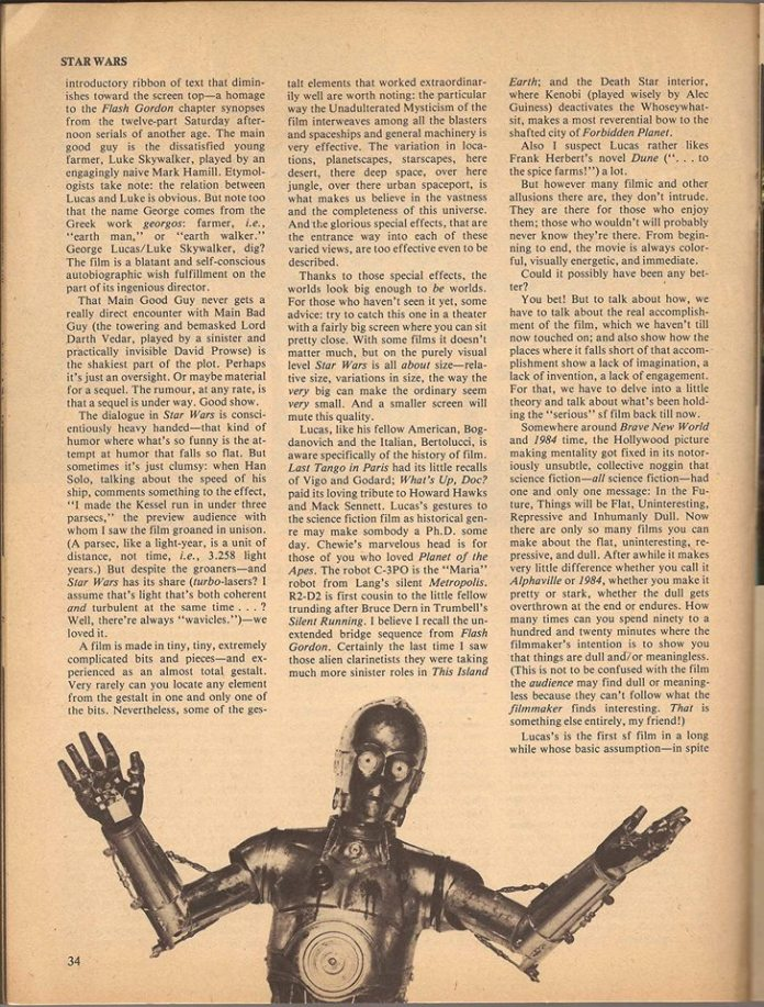 Samuel R. Delany's Star Wars review, page 2