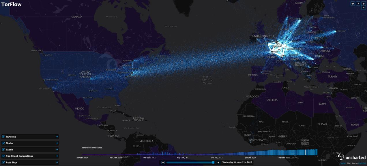 Tor Flow - world map