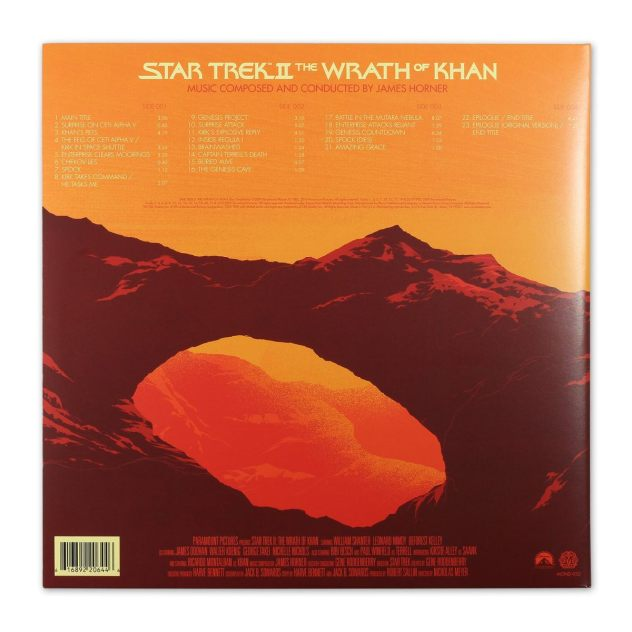 Wrath of Khan on vinyl - back