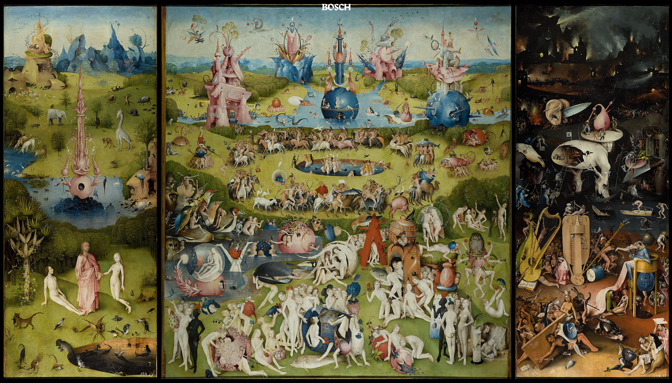 Explore \'The Garden of Earthly Delights\' in high resolution ...