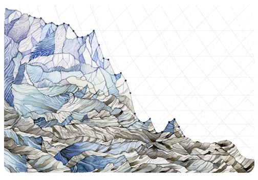 Jill Pelto - Glacier
